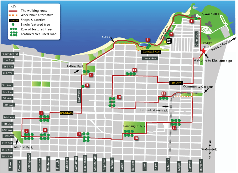 Map of kitsilano
